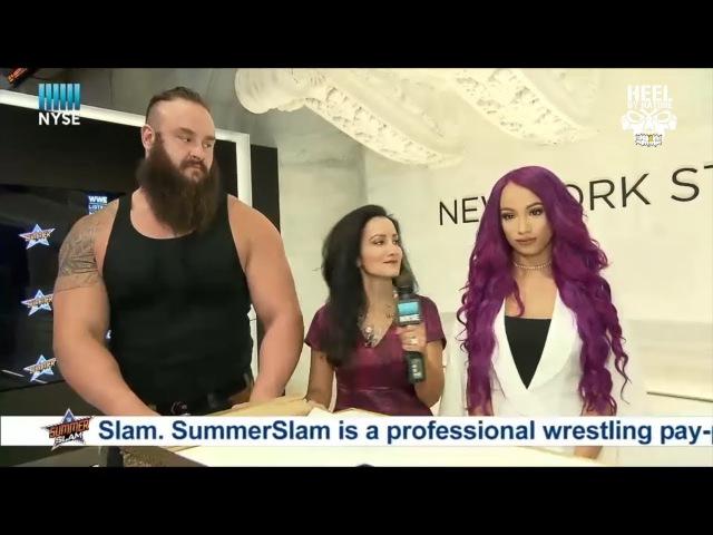 SBMKV_Video   Awkward Interview: Sasha Banks Braun Strowman At NYSE