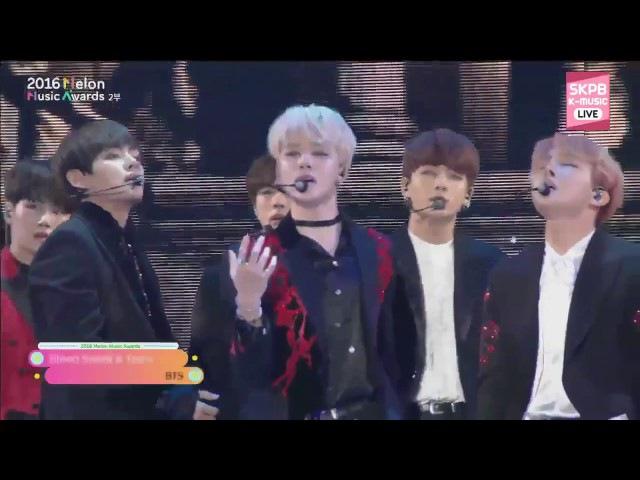 [HD] BTS BLOOD SWEAT TEARS FIRE live @ MELON MUSIC AWARDS 2016 MMA Reactions