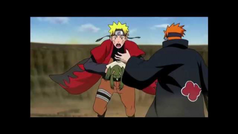 Naruto vs Pain full fight amv Skillet