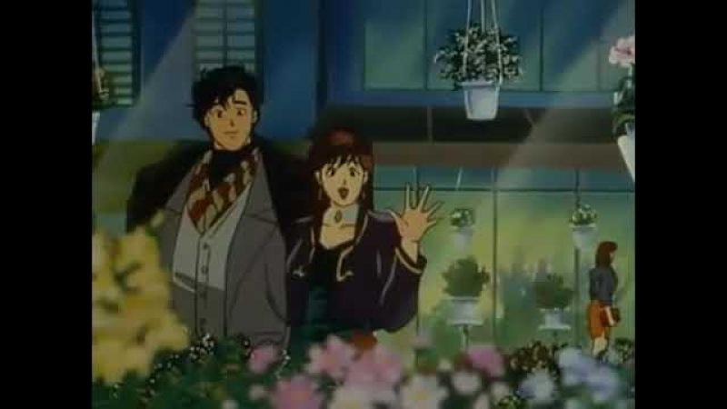 Свидание Рё и Каори. Романтичный момент из аниме Городской Охотник 91. Anime City Hunter 91