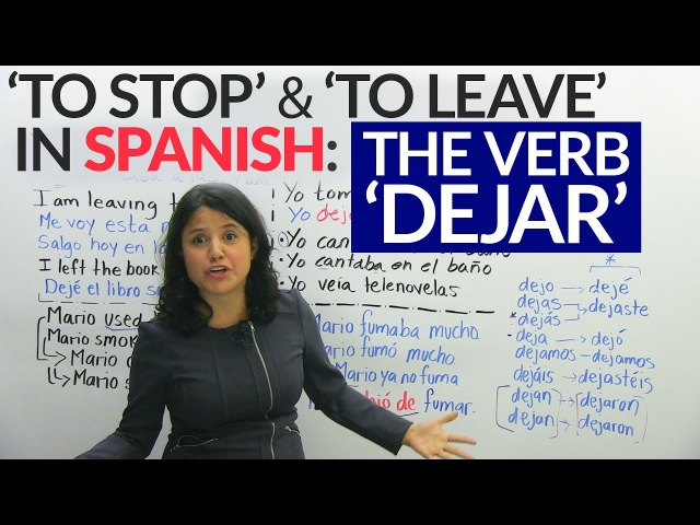 How to use the verb to leave in Spanish: Dejar