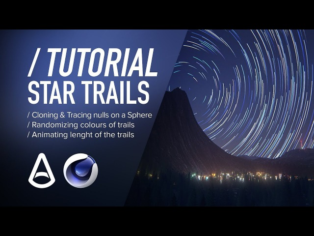 ( / ) C4D Arnold TUTORIAL - Star Trails