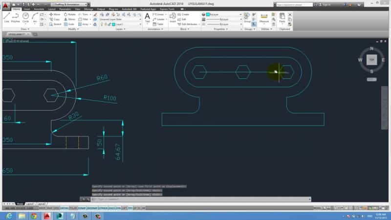 Yakın Kampüs AutoCAD Ders 44 Layers Katmanlar Örnek 1