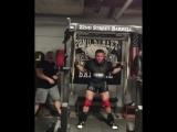Кристофер Бриджфорд, приседания 350 кг на 5 раз