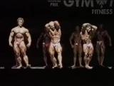 Olev Annus Pro kehonrakennus kilpailussa Suomessa vuonna 1989