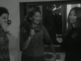 Марина Влади с сестрами на записи пластинки с русскими песнями. Съемка 12.11.1966г.