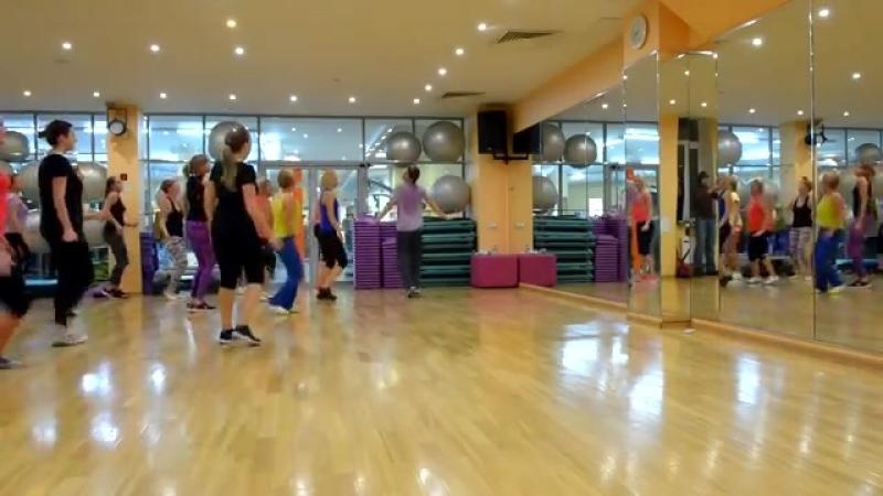 Открытый урок Самопляс Варенька фитнес клуб Магнето русский народный танец 1