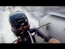 Лодка ПВХ надувная Навигатор 350 Аир кильватерный след