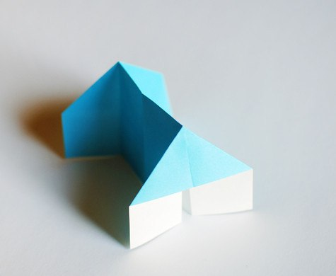 Домик в технике оригами
