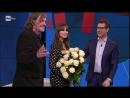Emir Kusturica and Monica Bellucci attend 'Che Tempo Che Fa' tv show