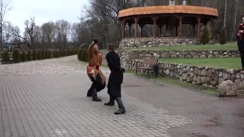 Шабельны бой у Парку-музеі Інтэрактыўнай Гісторыі Сула