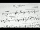 Salut d Amour, op.12 - Edward Elgar (arr. Hirokazu Sato) classic guitar