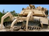 The Mud Hates These Tanks US M1 Assault Breacher Vehicle + M1 Abrams Stuck in Mud Being Recovered