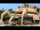 The Mud Hates These Tanks: US M1 Assault Breacher Vehicle M1 Abrams Stuck in Mud Being Recovered