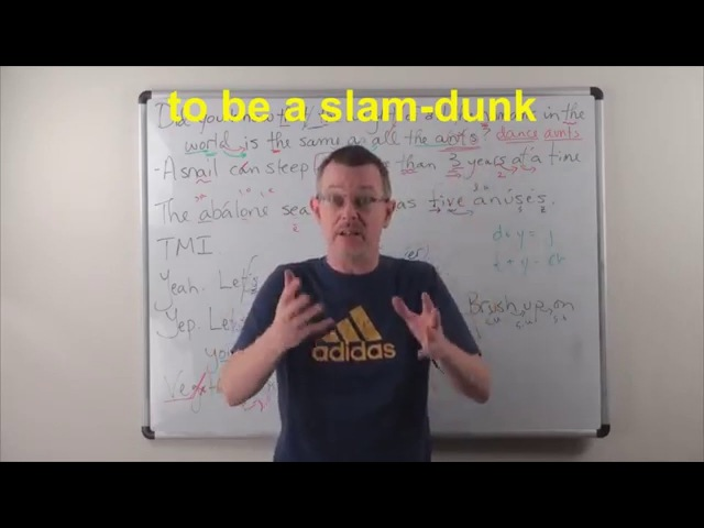 Learn English: Daily Easy English 0905: to be a slam-dunk