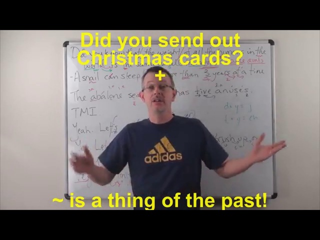 Learn English: Daily Easy English 0906: Did you send out Christmas cards? ~ is a thing of the past