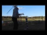 Замедленное видео(программа сони вегас).Рубка пучка 21 лозы.Шашка кавказская гур ...