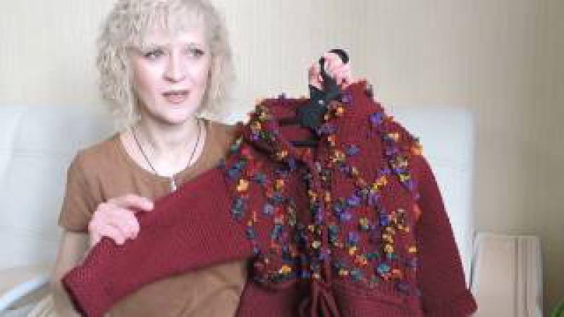 Пальто для девочки Полянка спицами. Фигура 2-я заключительная.