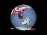 Predicted spread of humans around the world  Science News