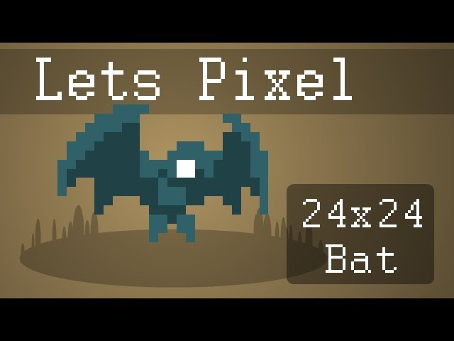 [Let's Pixel] 24x24 Bat with Animation