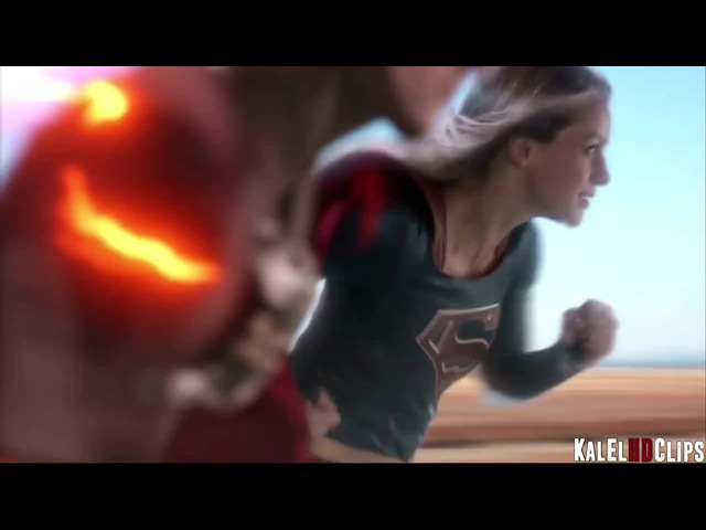 Around the world with Flash and Supergirl