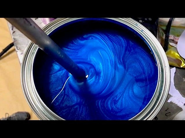 Mix and Spray the Perfect Blue Plasti Dip