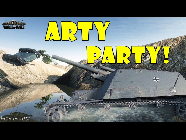 World of Tanks - Funny Moments | ARTY PARTY! 27 (world of tank, приколы, моды, читы, wot)