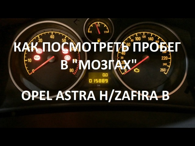 Как посмотреть пробег в мозгах Opel Astra H Zafira B