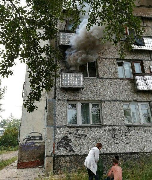 Пожар в Усть-Илимске 21.08.2017