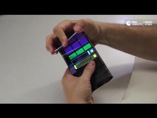 Музыкальное приложение для гибкого смартфона