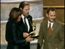Mitchell Burgess And Robin Green Accept The Emmy For Writing For A Drama