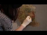Реставрация древней росписи в подъезде жилого дома
