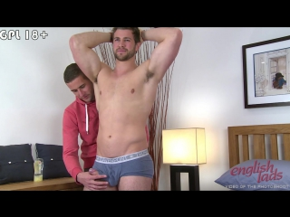 Hunky straight rugby stud cory gets his 1st manhandling  what a stiff uncut cock!
