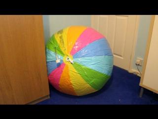 Intex #58072 sprayer beach ball first inflation and bounce