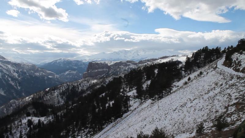 Панорама. Хребет Малые Бамбаки.