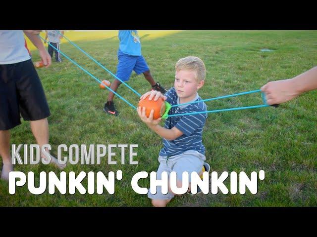PUMPKIN LAUNCH CONTEST | Kids Compete!