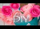 Розы из гофро бумаги Rose crepe paper DIY Tsvoric