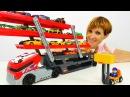 ХОТ ВИЛС Hot Wheels машинки и АВТОВОЗ 🚗РАСПАКОВКА игрушек с Машей Капуки Кануки. ПО...