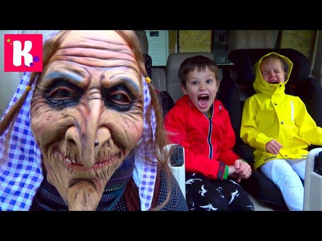 Баба Яга украла детей Old Hug steals Kid's Wable Bubble popping Water bombs Snow Jelly Slime Buff