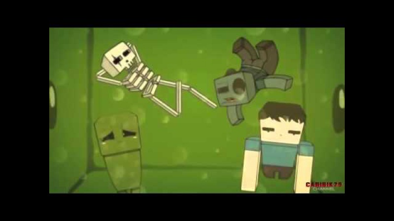 Мультики Minecraft-Эпичный Квест Крипер И Стив