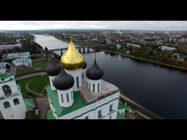 Храмы Пскова с высоты Pskov Church