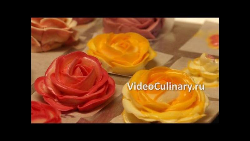 Украшение торта розами из крема Рецепт Бабушки Эммы
