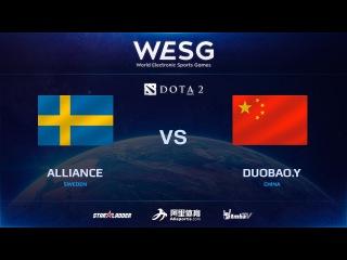 [RU] Alliance vs DuoBao.Y, Game 1, 2016 WESG Dota 2 Grand Final presented by Alipay