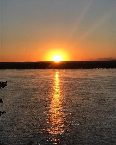 Закат на Волге  Прекрасная любимая Самара