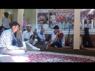 Wakhi music Instrument played by Mr. Rehmant at Gulmit music school