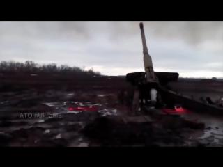 Бой ВСУ vs ДНР Клип снятый бойцами АТО