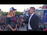 Елена Белова на чемпионском параде СКА
