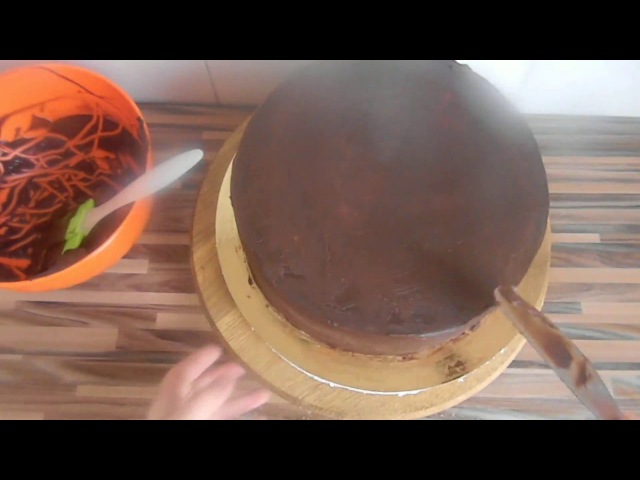 Как выровнять торт под мастику Чем выровнять торт Шоколадный ганаш