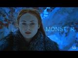 arya stark &amp sansa stark i've turned into a monster