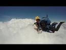 Прыжок с парашютом в тандеме , свободное падение.